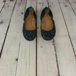 Lucky Brand Blue Erin Slip On Ballet Shoe 6.5